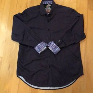 Men's Robert Graham Purple/Black W Cubes